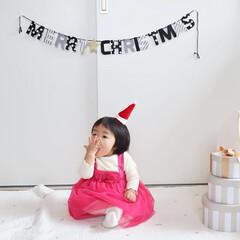 サンタコス/サンタクロース/赤ちゃん/クリスマス/100均/ダイソー/... メリークリスマス🎄 ダイソーのサンタ帽と…