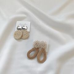 ラタンアクセサリー/ラタン/イヤリング/アクセサリー/ファッション/わたしのお気に入り お気に入りのイヤリング。 去年の夏にラタ…