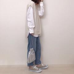 UNIQLO/Pierrot/バンドカラーシャツ/ニットベスト/ベスト/ファッション pierrotのベストコーデ* ユニクロ…