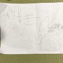 4歳/息子/ラブレター/お手紙 息子からのラブレター💌 息子は字や絵を描…