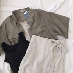 プチプラ/レースタンクトップ/ラップスカート/シアーシャツ/プチプラのあや/dearful/... しまむら購入品* 3点ともプチプラのあや…
