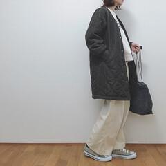 しまむら/冬コーデ/キルティングコート/コート/冬/ファッション 今日のコーデ。 しまむらのキルティングコ…
