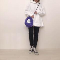 スキニー/UNIQLO/スウェット/パーカー/GU/ファッション GU×UNIQLOコーデ* GUのオーバ…