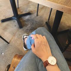 腕時計/ダニエルウェリントン/カフェ/至福のひととき/ファッション/おでかけワンショット 久しぶりにカフェへ☕️ 子連れでカフェと…
