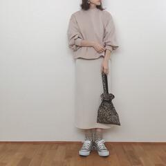 大人カジュアル/ワントーンコーデ/スウェットコーデ/上下GU/GU/ファッション ワントーンコーデ✧  最近ベージュやアイ…