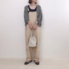 大人カジュアル/ベージュコーデ/サロペット/ファッション やっとタイプのサロペットを見つけました♡…