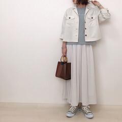 ロングスカート/ジャケットコーデ/ミントグリーン/honeys/ハニーズ/ファッション さっそくHoneysのお洋服で春コーデ*…