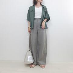 大人カジュアル/カーブパンツ/ユニクロ/ユニクロユー/ファッション ユニクロのカーブパンツ。 ジャージータイ…