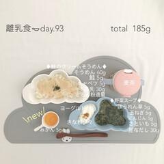 赤ちゃん/生後9ヶ月/離乳食/フード/おうちごはん 今日の離乳食。 みかん始めました🍊 フル…