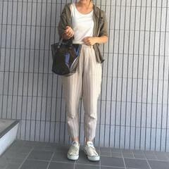 GU/主婦/クリアバッグ/プチプラコーデ/プチプラ/ママコーデ/...   🌻夏のファッションアイテム コンテス…