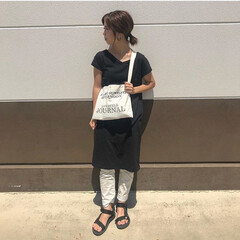 スポーツサンダル/サコッシュ/GU/コーディネート/男の子ママ/ママコーデ/... 🌻夏のファッションアイテム コンテスト参…