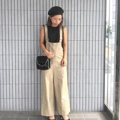 ママコーデ/男の子ママ/サロペット/夏コーデ/ファッション 夏のファッションコンテスト参加中〜〜🍉💓…