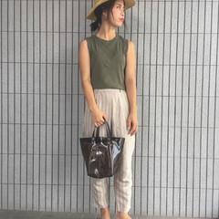クリアバッグ/主婦/ママ/コーディネート/ママコーデ/ファッション 夏のファッションアイテムコンテスト参加中…
