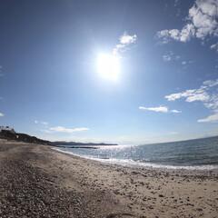 海岸/淡路島/自然/ソラ/太陽/砂浜/... 秋の海✨✨  淡路島の砂浜✨✨✨