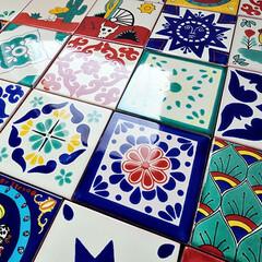 タイル/メキシコタイル/メキシカンタイル/DIY/リフォーム/リノベーション/... 人気のメキシコタイルに新柄が登場しました…