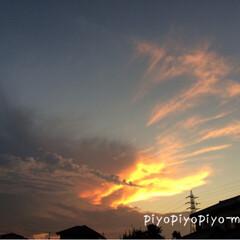 神の手?/夕焼け/空 神の手?にも見える?雲に出会えたおかげか…