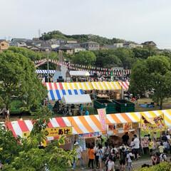 夕焼け雲/夕陽/夕日/祭り/夏祭り/夕焼け/... 今日は近所の市民祭りに行ってきました。 …
