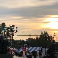 夕焼け雲/夕陽/夕日/祭り/夏祭り/夕焼け/... 今日は近所の市民祭りに行ってきました。 …(3枚目)