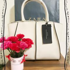 ありがとう/バック/ZARA/母の日 母の日💐 いただきましたぁ😆💕  ぁりが…