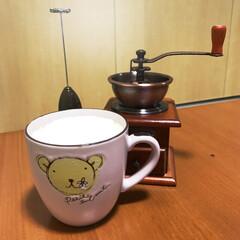 愛着/プレゼント/ニトリ/カプチーノ/カプチーノミキサー/コーヒーミル/... 1人の時間🕰 まったりコーヒータイム☕️…