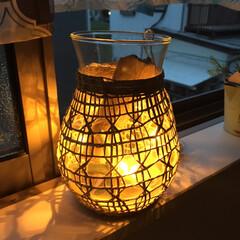花瓶/頂き物/流木/ライト オシャレな花瓶をいただきました☺️  お…