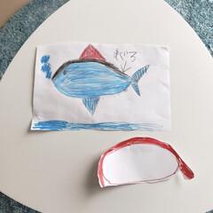 お寿司/マグロ/サカナ 孫ちゃん達に【マグロ】書いてもらった  …