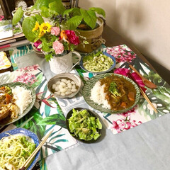 ある日の食卓/オーサムストア/和食器が好き/フランフラン雑貨/令和の一枚/LIMIAごはんクラブ/... 昨日の夜ごはん カレーでした🍛😉 トロピ…