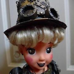 スチームパンク/ゴーグル/ハンドメイド帽子 元は子供に遊ばれたディズニーキャラですが…