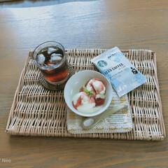 スタバ/スーパーカップ/アイスクリーム/アイスコーヒー/スターバックスコーヒー スタバのオリガミアイスコーヒーを入れて、…(1枚目)