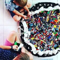 子供部屋/キッズルーム/収納/子供部屋収納/お片付け/インテリア/... プレイマットと収納袋がひとつになった、プ…