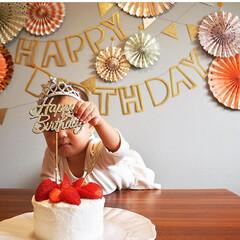 バースデー/ガーランド/誕生日/子供/シンプル 可愛すぎるバースデーガーランド♡ 可愛い…