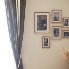 アート手作り/写真/アートコーナー/思い出の写真/わたしの手作り リビングのアートコーナー。 フレームの中…