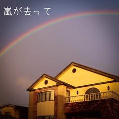 阿部興業株式会社/宇都宮市/栃木県/雨上がり/虹 今日は大雨 夕方には雨があがって、空には…