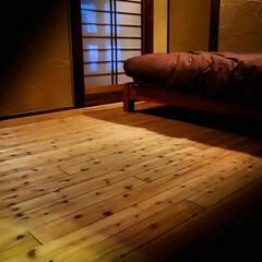 新築/リフォーム/宇都宮/木の家づくり/木の家/スギ床/... 素材にこだわった寝室です。 快適な睡眠の…(4枚目)