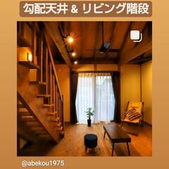 檜の香り/断熱/シーリングファン/木の家づくり/木の家/サイエンスホーム宇都宮店/...    勾配天井&リビング階段 もちろん平…