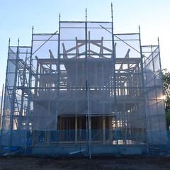 宇都宮/晴天/上棟/ひのきの家/木の家づくり 本日、上棟工事を行いました。 桧の香りが…
