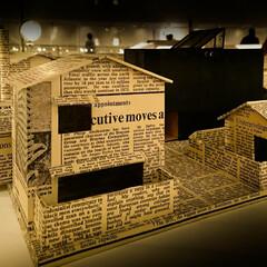 英字新聞/安藤建築設計工房/安藤忠雄 安藤忠雄さんの続きです。 英字新聞を模型…
