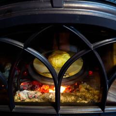 薪ストーブのある家/薪ストーブ/焼きメロンパン/メロンパン こんがり焼きメロンパン🎵 皮がサクサクし…