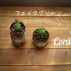 宇都宮市/栃木県/リメ缶/フェイクグリーン/消臭効果/コーヒーかす/... コーヒーかすの活用 消臭効果があるので、…(4枚目)