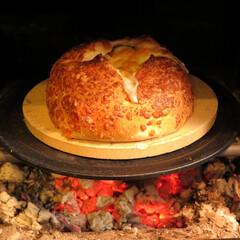 薪ストーブ 薪ストーブでとろ~りチーズパン