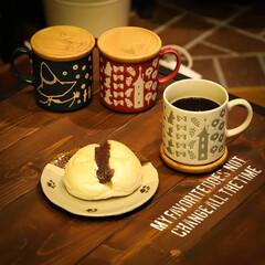 阿部興業株式会社/コーヒー/あんぱん/マグカップ/リトルミー/スナフキン/... ムーミンマグカップです。 エンボス加工さ…