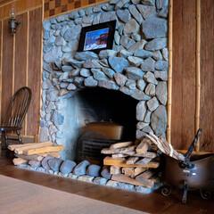 木の家/晩餐/暖炉/ダイニング/中禅寺湖/栃木県/...    豪華なダイニングです。 こんな素敵…(3枚目)