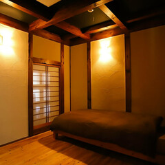 木の家/木炭/珪藻土/自然素材/究極の寝室/寝室 自然素材にこだわった「究極の寝室」 寝室…