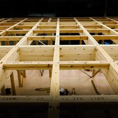 木造住宅/軸組/上棟 木造住宅 規則正しい骨組み