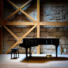 ピアノコンサート/三葉虫/アンモナイト/石の美術館/隈研吾/芦野石/... 石の美術館 ピアノコンサートも開かれるそ…(2枚目)