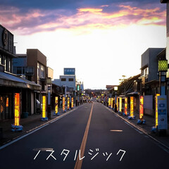 和傘/ノスタルジック/馬頭商店街/那珂川町/栃木県/光りのイベント ノスタルジックな夕暮れの街 光りのイベン…(2枚目)