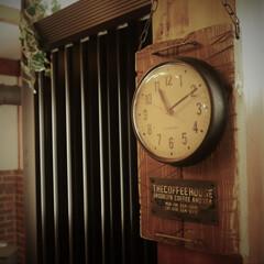 DIY/時計/アンティーク風 時計をDIYしました。