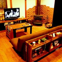 DIY/薪ストーブ/男前インテリア DIYシリーズ完成です。 木の家と薪スト…