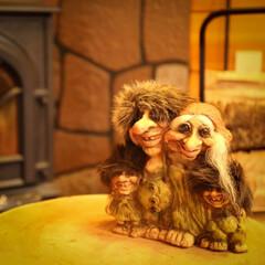 妖精/薪ストーブのある家/薪ストーブ/ノルウェー/北欧/トロール トロールファミリー 北欧の妖精です🎵 な…