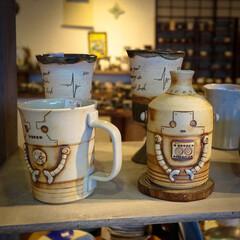 ロボットマグカップ/陶芸の丘よこやま/益子町/栃木県/益子焼 益子焼のお店です。 最近お気に入りで使っ…